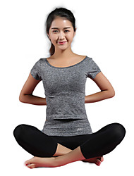 Women's Running T-Shirt with Pants Sleeveless Quick Dry Breathable Compression T-shirt Shorts Clothing Suits for Yoga Exercise & Fitness