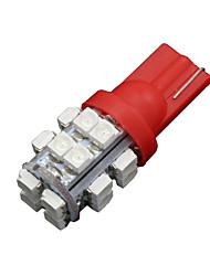 10 x T10 W5W 2825 192 194 168 501158 roten 20SMD LED Seitenkeil Glühlampe DC 12V
