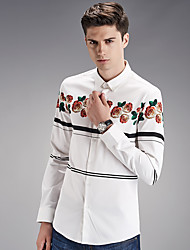 Autumn new shirt cotton men's shirts wash and wear business men's wear long sleeve white shirt SY-1878