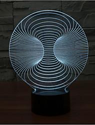 abstrakt preg dimming 3D LED nattlys 7colorful dekorasjon atmosfære lampe nyhet belysning jul lys