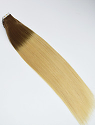 Ombre Tape Hair Extension 40pcs/100g Straight 4/613 Ombre Glue Skin Weft Human Hair Extension