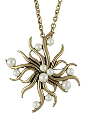 Necklace Pendant Necklaces Jewelry Party / Daily / Casual Imitation Pearl / Fashion Alloy Gold 1pc Gift