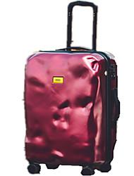Unisexe PVC Extérieur Bagages Rouge / Argent / Noir