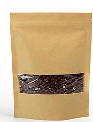 janela kraft sacos de papel auto-denominado auto-cereais de embalagem de alimentos sacos de logotipo personalizado pode ser impresso um