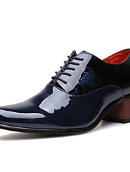 Men's Oxfords Spring Fall PU Casual Party & Evening Low Heel Lace-up Others Black Blue Others