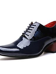 Hombre Zapatos PU Primavera Otoño Oxfords Para Casual Fiesta y Noche Negro Azul Oscuro