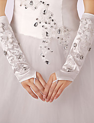 Opera Length Fingertips Glove Polyester Bridal Gloves / Party/ Evening Gloves