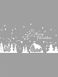 Wall Stickers Wall Decals Style Christmas Igloo PVC Wall Stickers