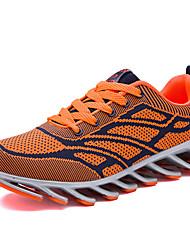 Herren-Sneaker-Lässig-PU-Flacher Absatz-Komfort-Schwarz / Rot / Orange