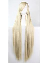 perruque de bande dessinée de couleur de la mode 100 cm Blond Longs perruques de cheveux droites