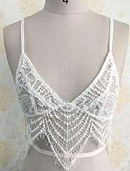 Women's Casual/Daily Cute Summer Tank Top,Solid Strap Sleeveless White Polyester Thin