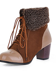 Women's Boots Spring / Fall / Winter Snow Boots / Fashion Boots / Combat Boots Leatherette Outdoor / Casual Chunky Heel