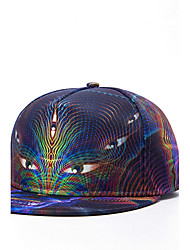Fashion Women Men Hip Hop Dance Caps Graphic Eyes Print Adjustable Patchwork 3D Baseball Cap