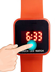 Men's Kids' Sport Watch Fashion Watch Digital Watch Digital LED Noctilucent Rubber Band Casual Black White Blue Red GreenWhite Black Red