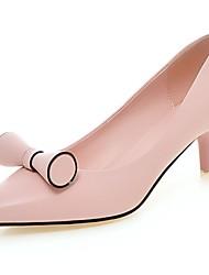 Feminino-Saltos-Saltos / Bico Fino-Salto Cone-Amarelo / Rosa / Branco-Couro Ecológico-Escritório & Trabalho / Casual