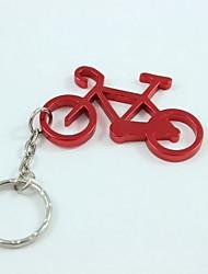 trousseau de style de vélos&ouvre-bouteille, alliage d'aluminium de 10 x 4 x 0,2 cm (4,0 × 1,6 × 0,1 pouces) couleur aléatoire