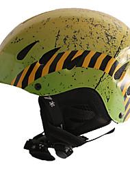 Универсальные шлем Л: 58-61CM Спортивные Ультралегкий (UL) Фиксированный 14 CE EN 1077 Снежные виды спорта / Лыжи ЗелёныйПоликарбонат /