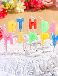 Party Decoration Birthday Candles Set Happy Birthday Letters