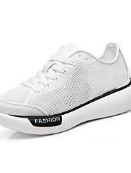 Da donna-Sneakers-Sportivo-Ballerine-Piatto-Tulle-Nero / Bianco