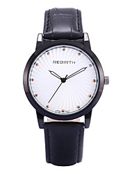 REBIRTH® Unisex Simple Fashion PU Leather Strap Quartz Wrist Watch