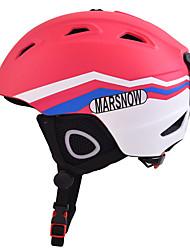 Универсальные шлем Л: 58-61CM Спортивные Ультралегкий (UL) Фиксированный 14 CE EN 1077 Снежные виды спорта / Лыжи РозовыйПоликарбонат /