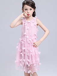 Girl's Casual/Daily Solid Dress,Others Summer Pink / Red / White