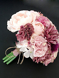 "Wedding Flowers Round Peonies Bouquets Wedding Polyester 7.48""(Approx.19cm)"