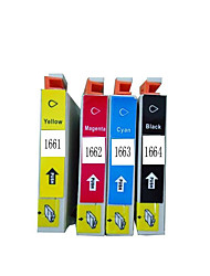 For Epson Me-10 Cartridge Me-101 Printer Cartridge T1661 A Set of Four Color Black, Red, Yellow, Blue
