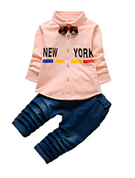 Boy's Casual/Daily Print Clothing SetCotton Fall Blue / Pink / White