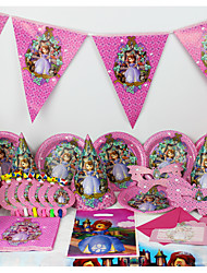 Luxury Sofia 78pcs Birthday Party Decorations Kids Evnent Party Supplies Party Decoration 6 People use