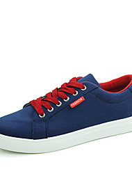 Men's Sneakers Spring Fall Fabric Casual Flat Heel Others Black Blue Red Beige Navy
