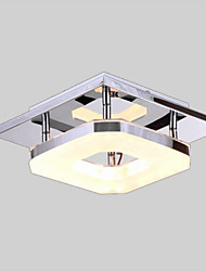 8 Watt Flush Mount ,  Modern/Contemporary Electroplated Feature for LED Metal Living Room / Bedroom / Dining Room