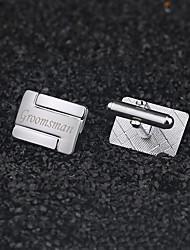 Gift Groomsman Personalized Modern Cufflinks