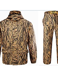 Outdoor Sports Autumn Reed Swamp Camo Jacket Coat Hunting Fishing S Camouflage Suit=Jacket+Suspender Trousers