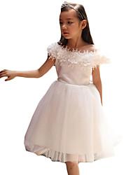 Vestido Chica de-Noche-Un Color-Acrílico / Nailon-Verano-Blanco