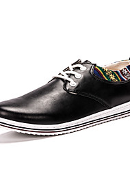 Men's Business Casual Breathable Genuine Leather Flats Shoes in Daily Life for Trip Or Party
