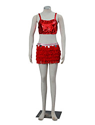 Inspired by Zootopia Judy Anime Cosplay Costumes Cosplay Suits Solid Red Sleeveless Vest / Skirt