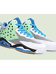 Da uomo-Sneakers-SportivoPiatto-Tulle-Blu Verde Rosa