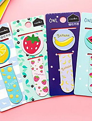Children Pupils Metal Mini Magnet Fine Bookmark Lovely Stationery (Fruit)