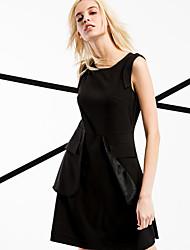 ARNE® Women's Round Neck Sleeveless Above Knee Dress-6231