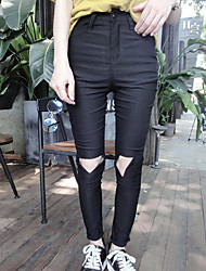 Pantaloni Da donna Skinny Semplice Cotone Elasticizzato