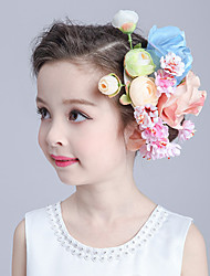 Flower Girl's Basketwork / Fabric Headpiece-Wedding / Special Occasion Flowers 1 Piece