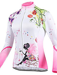 TVSSS Cycling Jersey Women's Long Sleeve Bike Tops Front Zipper Wearable Breathable Ultra Light Fabric LYCRA® Terylene CoolmaxBritish