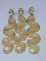 3pcs/lot Brazilian Virgin Hair Body Wave Human Hair Weave 10-30inches Color 613 27 Blonde Hair Extension