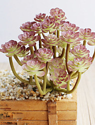 1 1 Филиал Полиэстер / Пластик Pастений Букеты на стол Искусственные Цветы 5.9inch/15cm