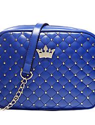 mujeres ocasional de las compras del monedero del bolso icono de la corona del hombro punto de la onda de la cadena del enrejado de