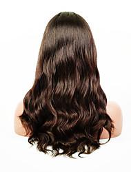 evawigs ondulação natural 10-26 polegadas frente perucas 100% laço do cabelo humano perucas cor natural densidade de preto 130%