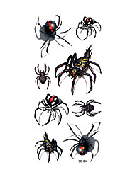 1pc Women Men Waterproof Temporary Tattoo Simulation Removable Vivid Body Art Red Yellow Spider 3D-04