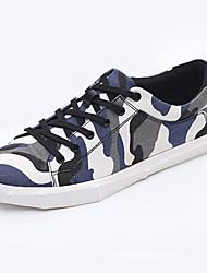 Girl's Sneakers Spring / Fall Comfort Fabric Casual Flat Heel Magic Tape Blue / Green / Purple Walking