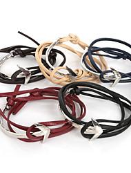 Beadia 1Pc Fashion Leather Charm Anchor Bracelet Men Wrap Bracelet